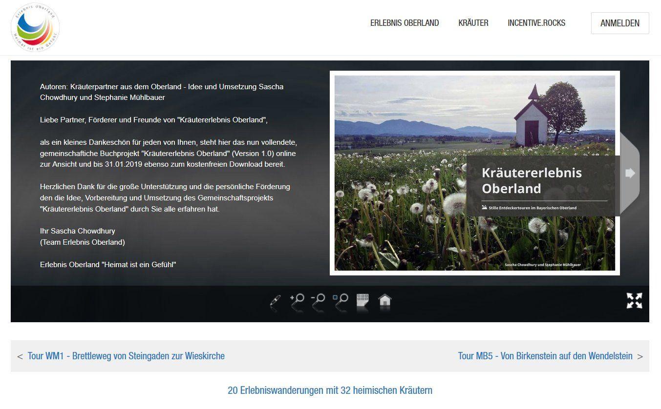 """Buchprojekt """"Kräutererlebnis Oberland"""""""